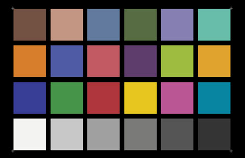 Color Rendition Chart (X-Rite ColorChecke