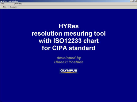 HYRes 3.1 Resolution Test Charts Software Download