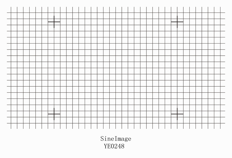 Distortion Grid Test Chart