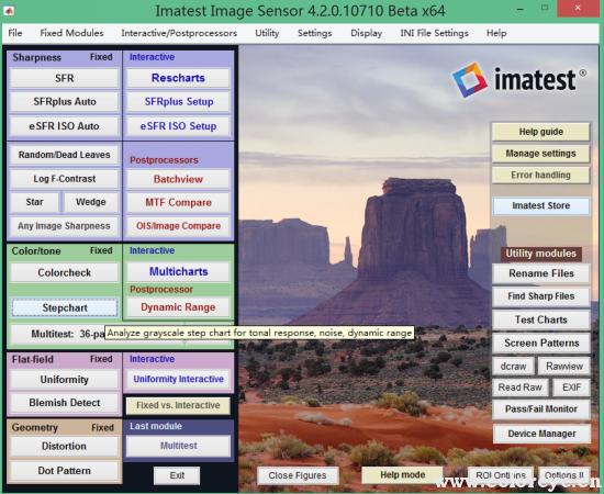 imatest软件模块Stepchart