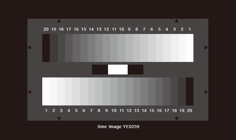 SineImage灰度测试卡20阶透射式