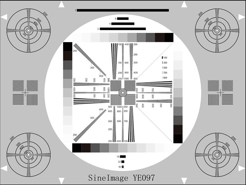 高分辨率通用测试卡反射式